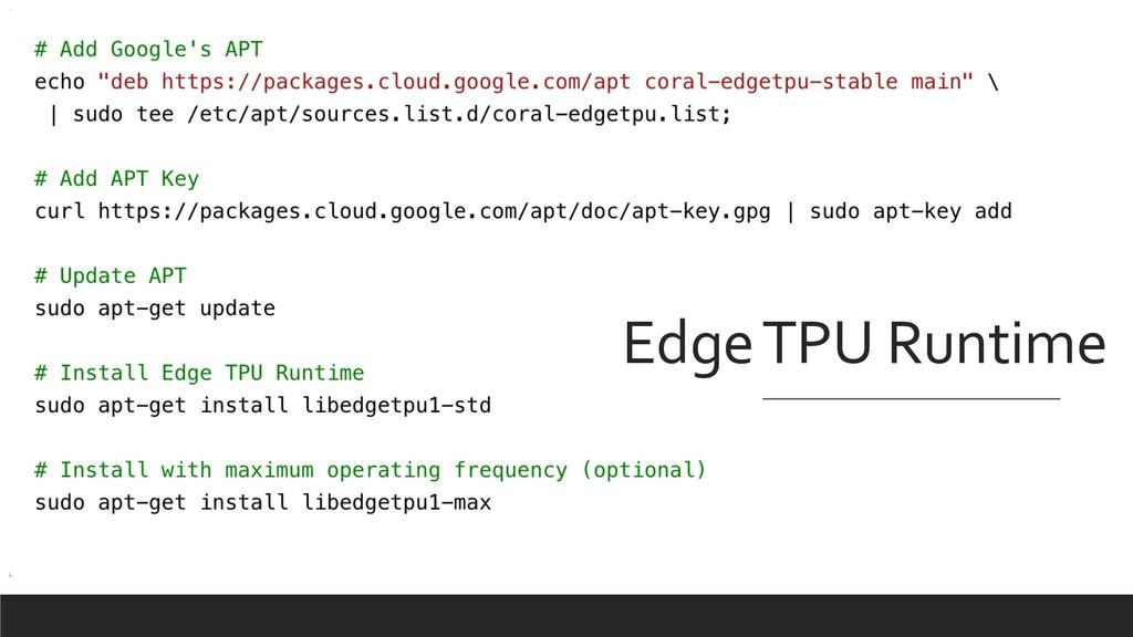 Edge TPU Runtime