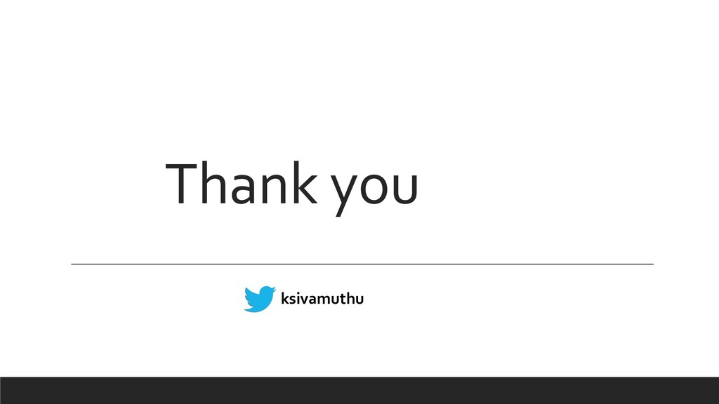 Thank you ksivamuthu