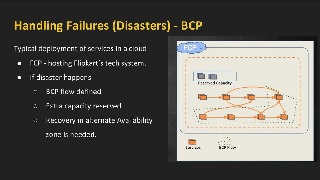 Handling Failures (Disasters) - BCP Typical dep...