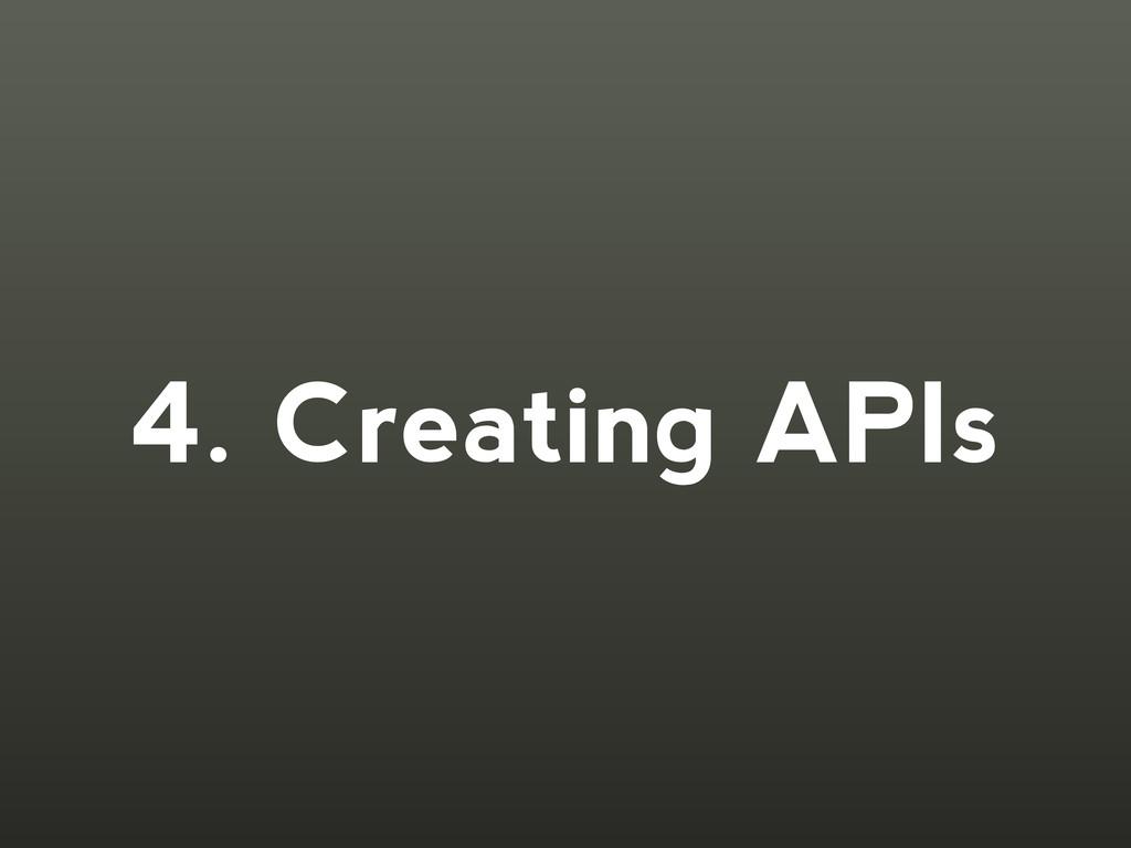 4. Creating APIs
