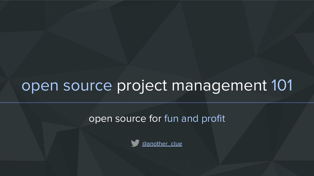 open source project management 101 open source ...