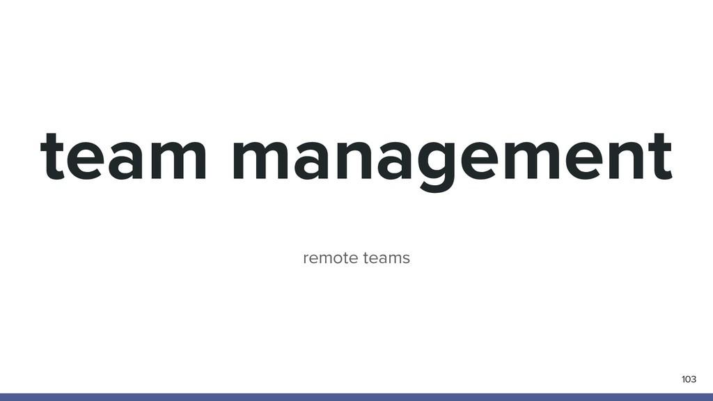 team management 103 remote teams