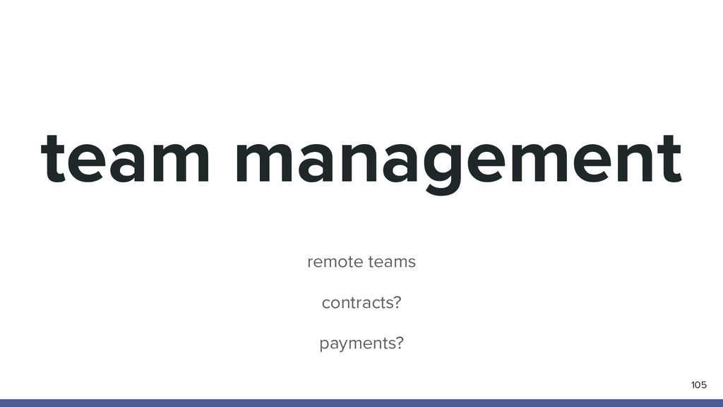 team management 105 remote teams contracts? pay...