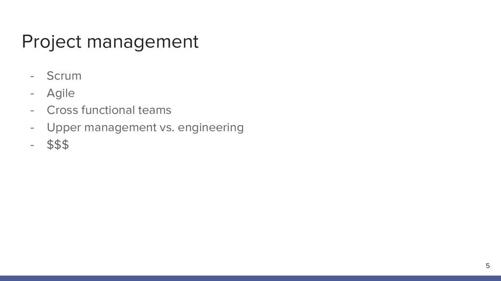 Project management 5 - Scrum - Agile - Cross fu...