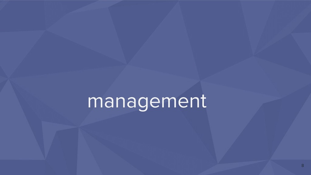 management 8