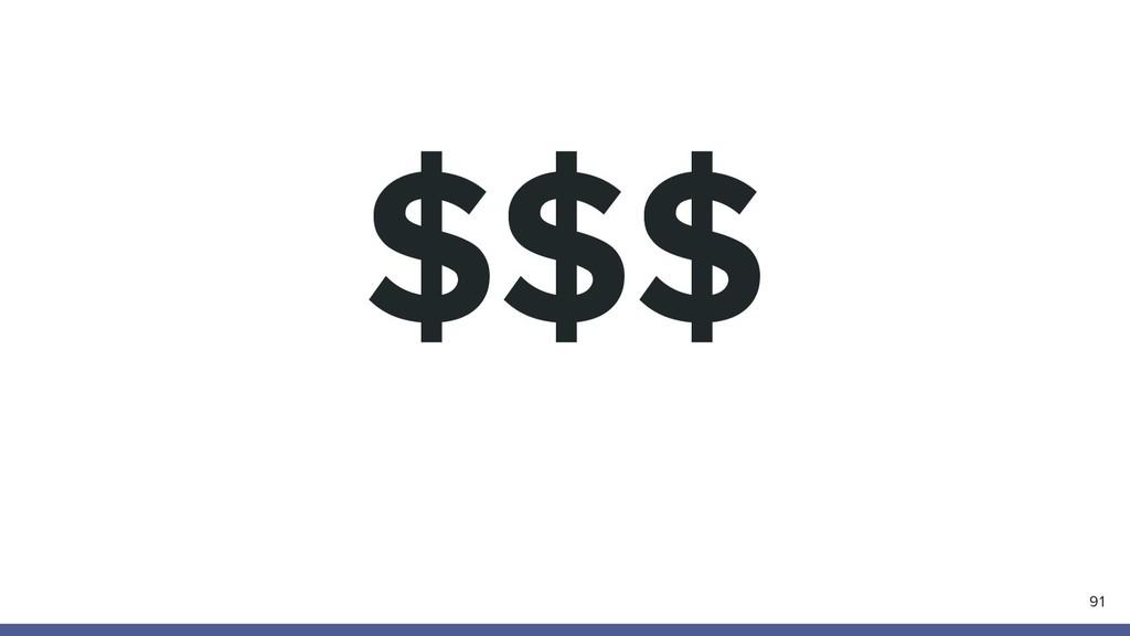 $$$ 91
