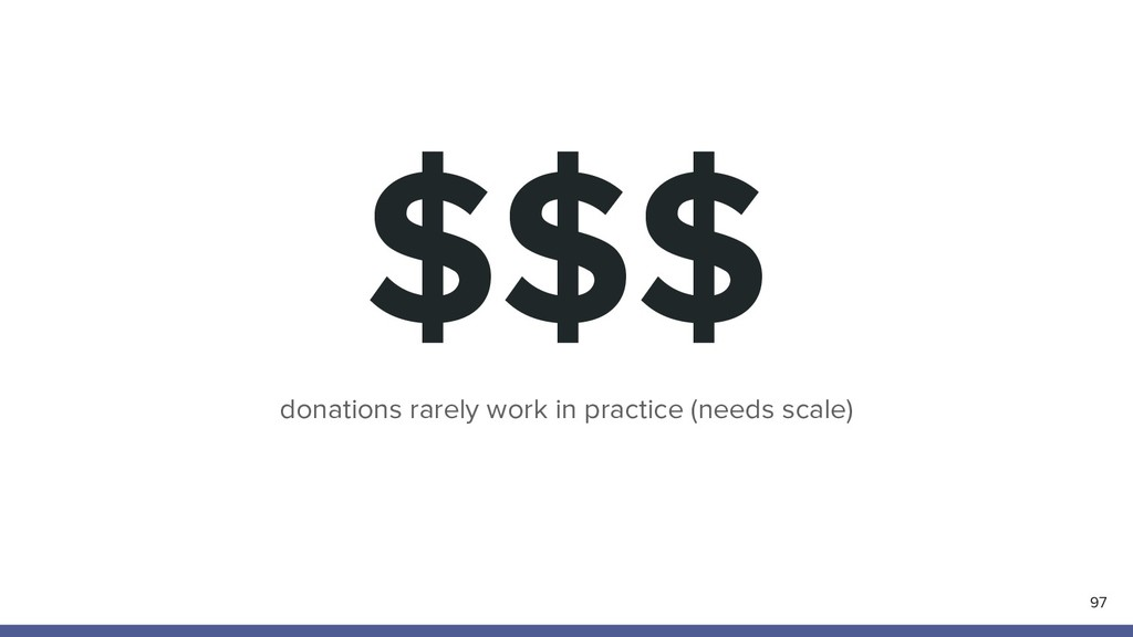 $$$ 97 donations rarely work in practice (needs...