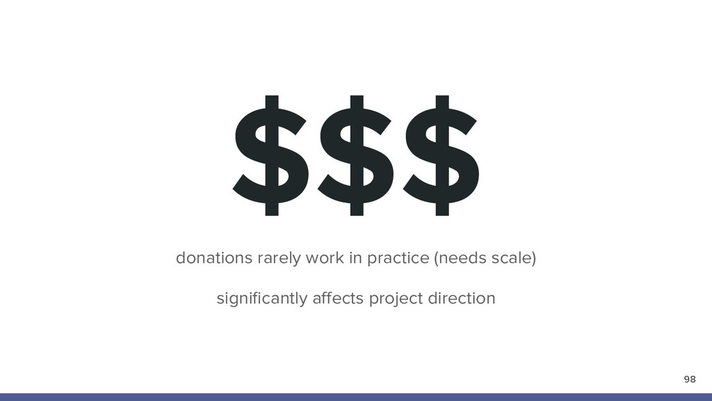 $$$ 98 donations rarely work in practice (needs...