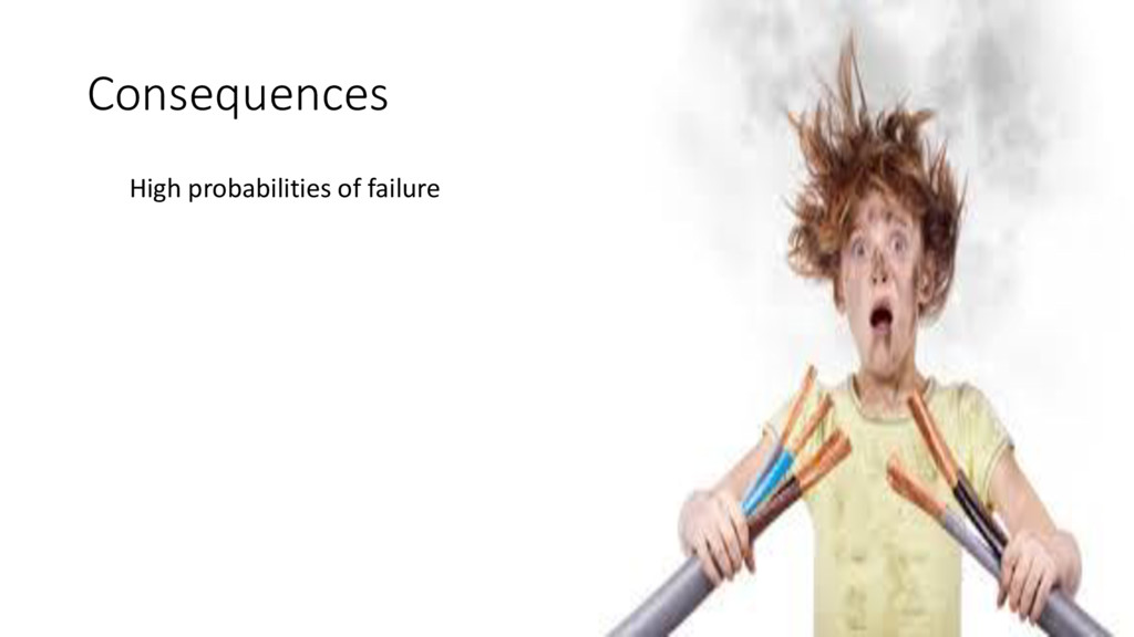 Consequences High probabilities of failure