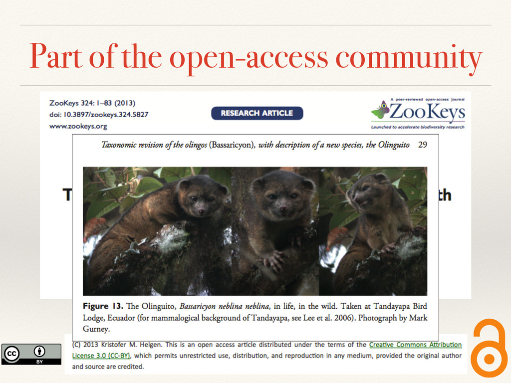 Part of the open-access community
