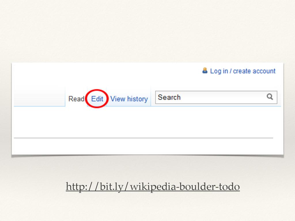 http://bit.ly/wikipedia-boulder-todo