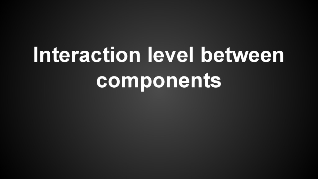 Interaction level between components