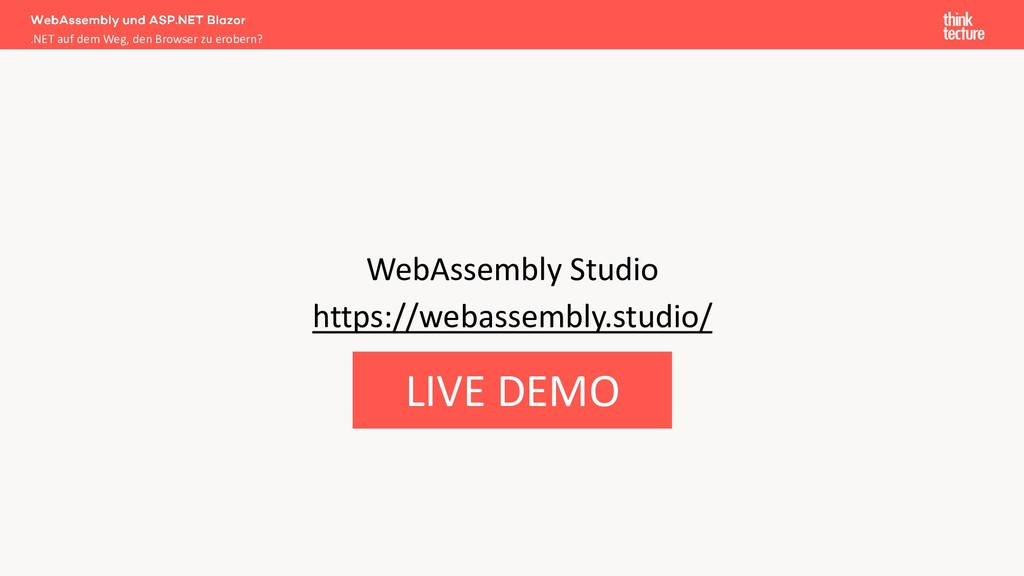 WebAssembly Studio https://webassembly.studio/ ...