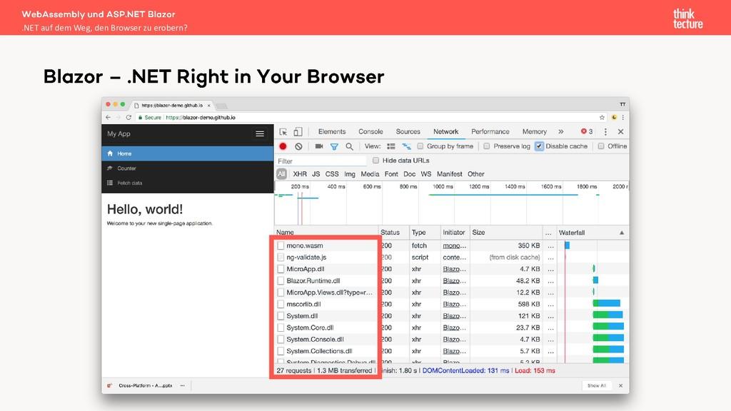 .NET auf dem Weg, den Browser zu erobern?