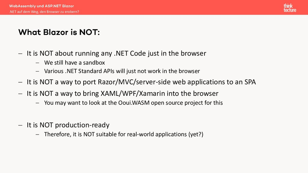 − It is NOT about running any .NET Code just in...