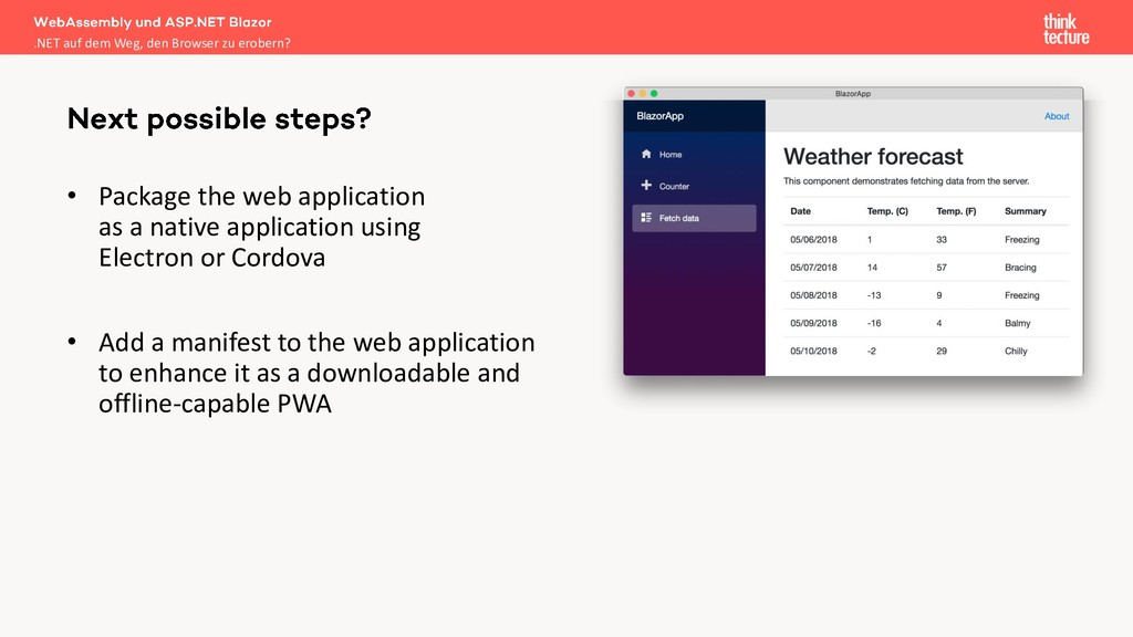 • Package the web application as a native appli...