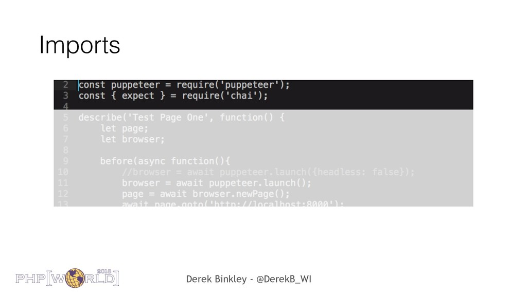 Derek Binkley - @DerekB_WI Imports
