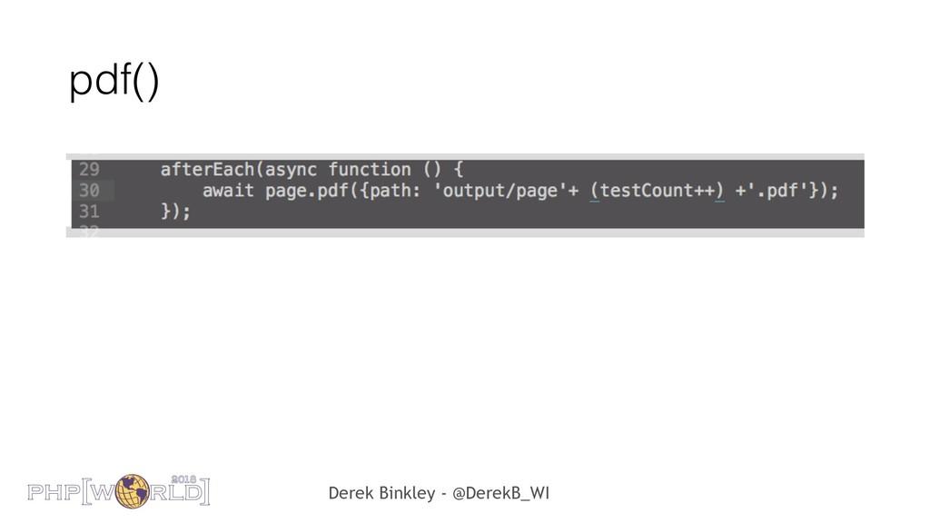 Derek Binkley - @DerekB_WI pdf()