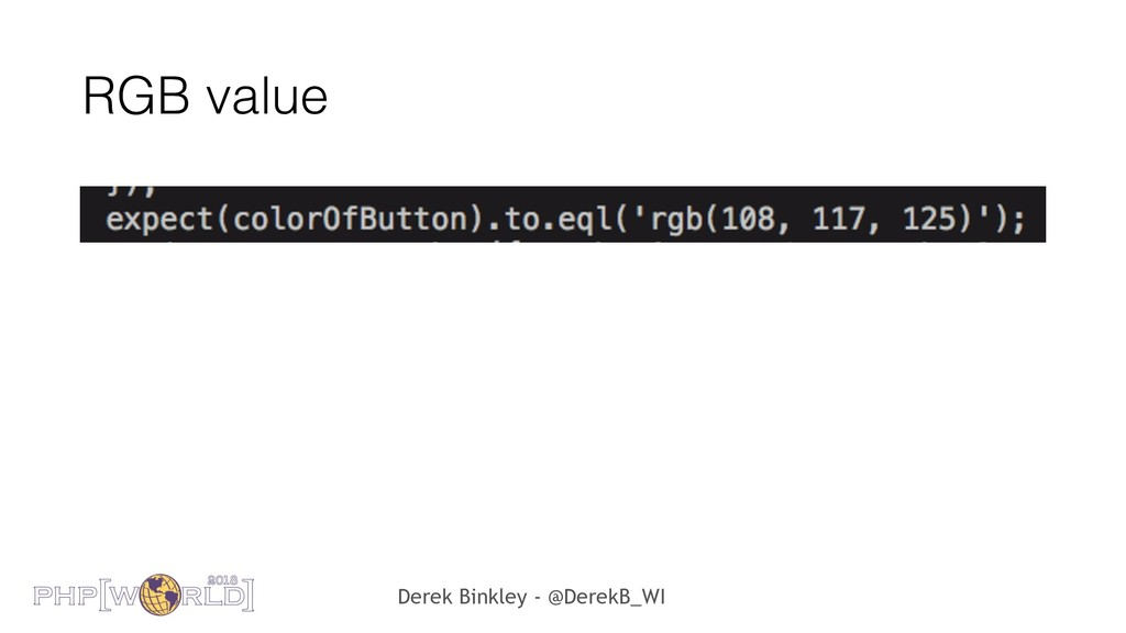 Derek Binkley - @DerekB_WI RGB value