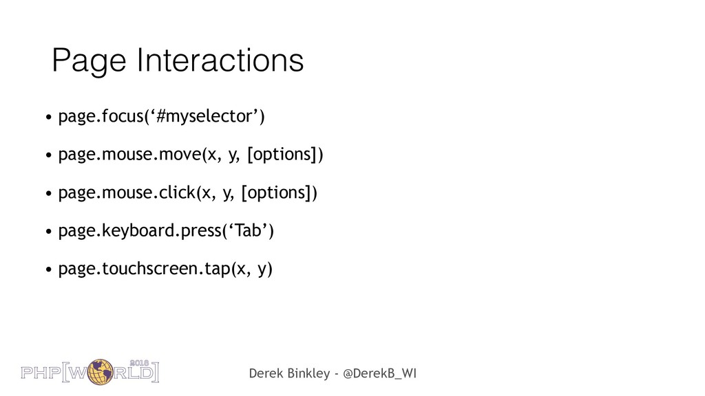 Derek Binkley - @DerekB_WI Page Interactions • ...