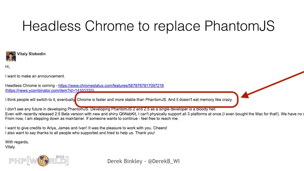 Derek Binkley - @DerekB_WI Headless Chrome to r...