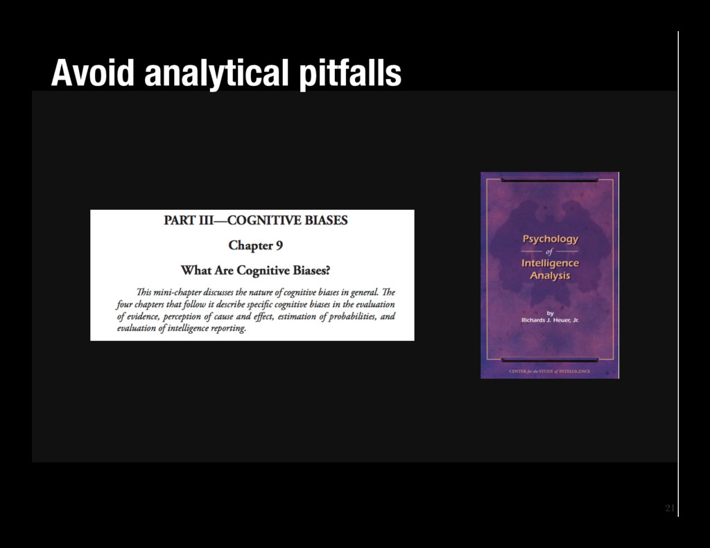 21 Avoid analytical pitfalls