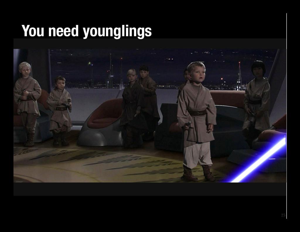 25 You need younglings