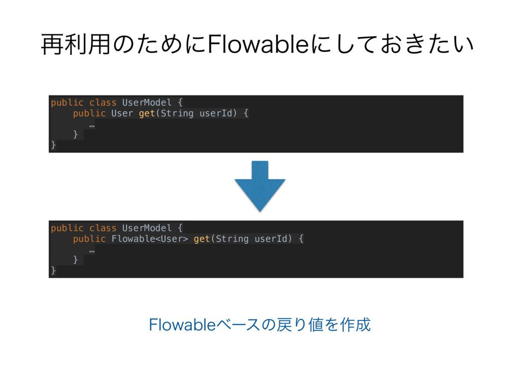 ࠶ར༻ͷͨΊʹ'MPXBCMFʹ͓͖͍ͯͨ͠ public class UserModel {...