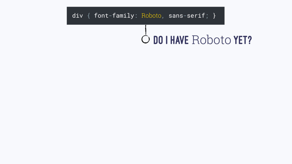 div { font-family: Roboto, sans-serif; } Do I H...