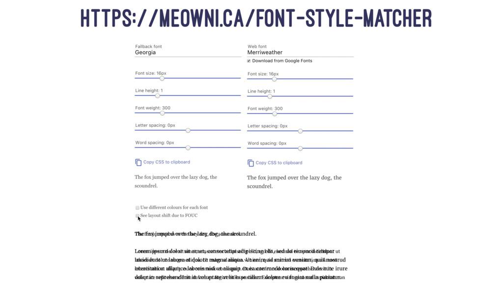 https://meowni.ca/font-style-matcher