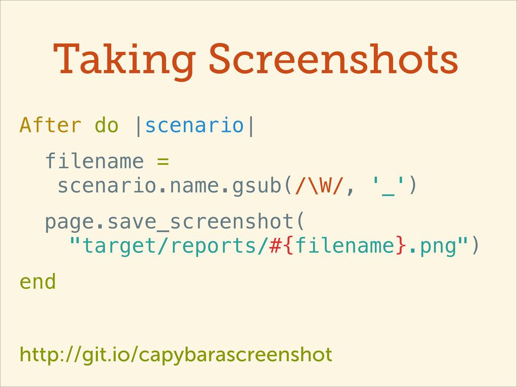 Taking Screenshots After do |scenario| filename...