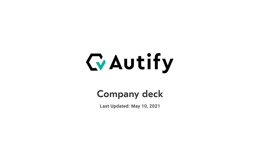 Company deck Last Updated: May 10, 2021