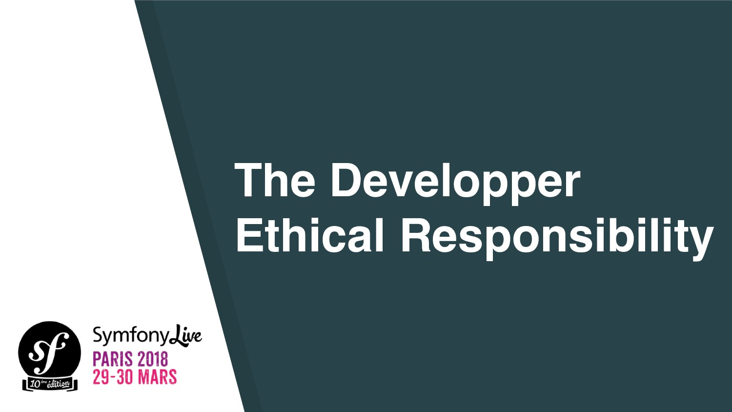 The Developper Ethical Responsibility