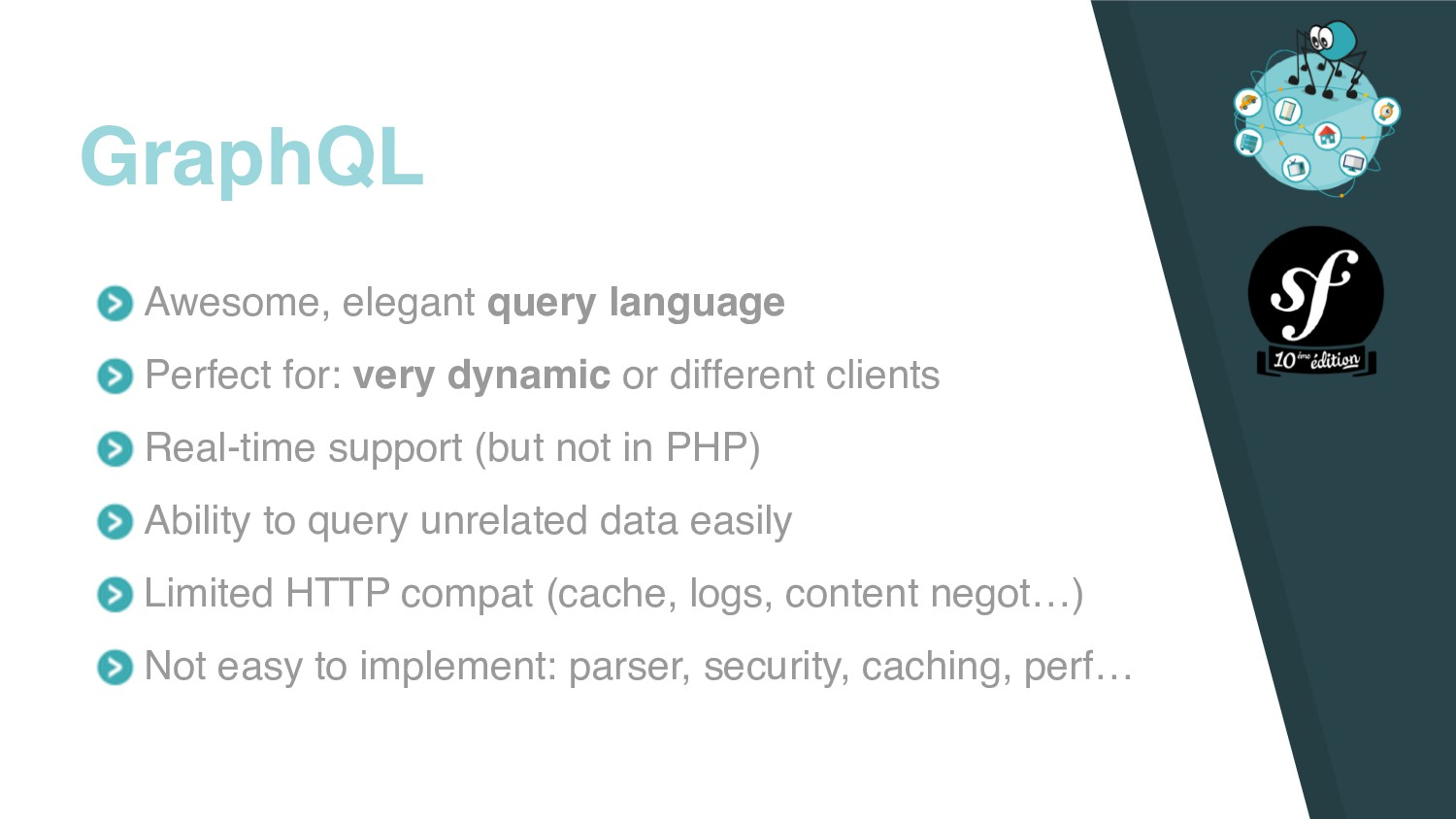 Awesome, elegant query language Perfect for: ve...