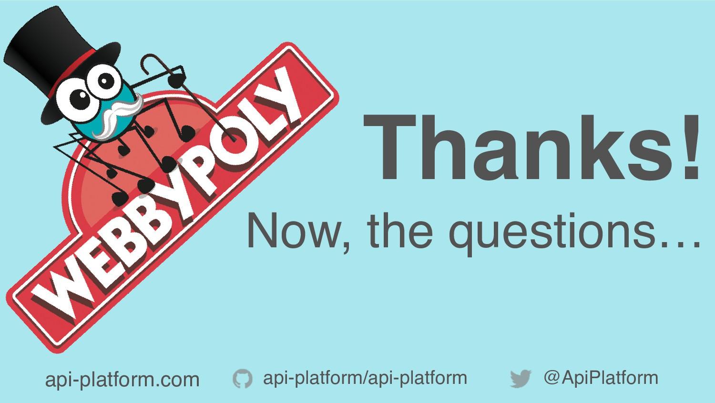 api-platform/api-platform @ApiPlatform Thanks! ...