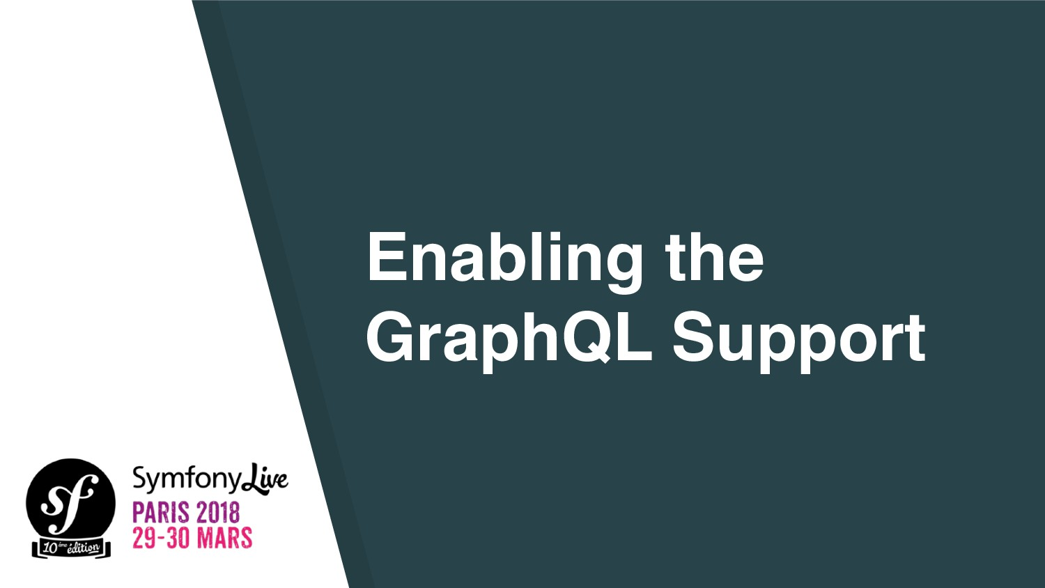 Enabling the GraphQL Support