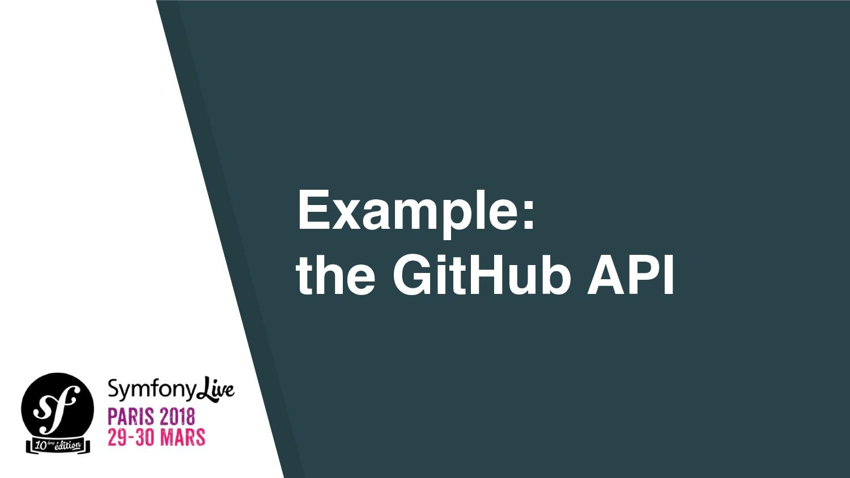 Example: the GitHub API