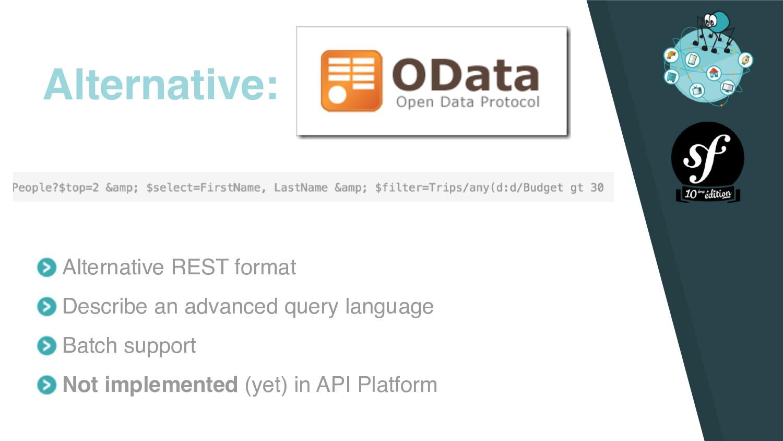 Alternative REST format Describe an advanced qu...