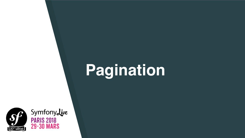 Pagination