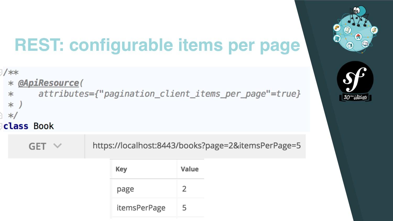 REST: configurable items per page