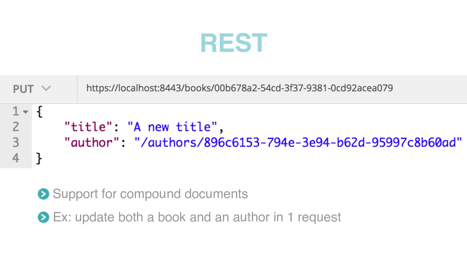 REST Support for compound documents Ex: update ...