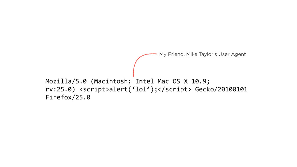 My Friend, Mike Taylor's User Agent Mozilla/5.0...