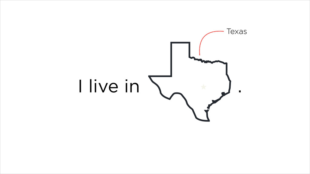 I live in . Texas