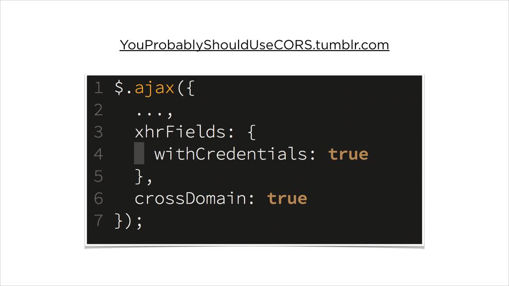 YouProbablyShouldUseCORS.tumblr.com