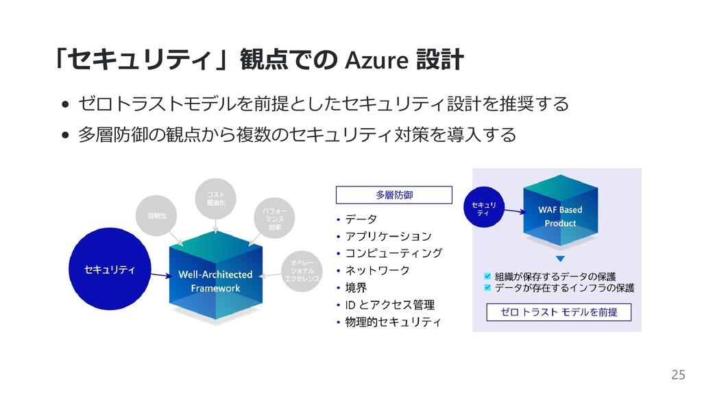 「セキュリティ」観点での Azure 設計 ゼロトラストモデルを前提としたセキュリティ設計を推...