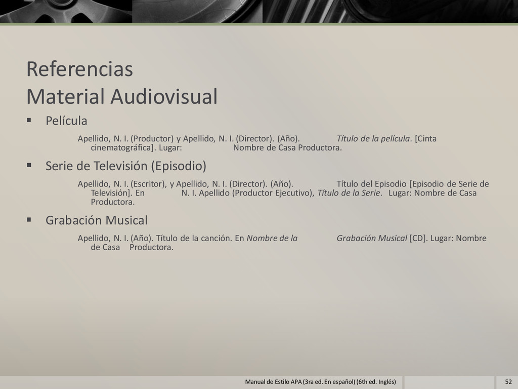 Referencias Material Audiovisual  Película Ape...