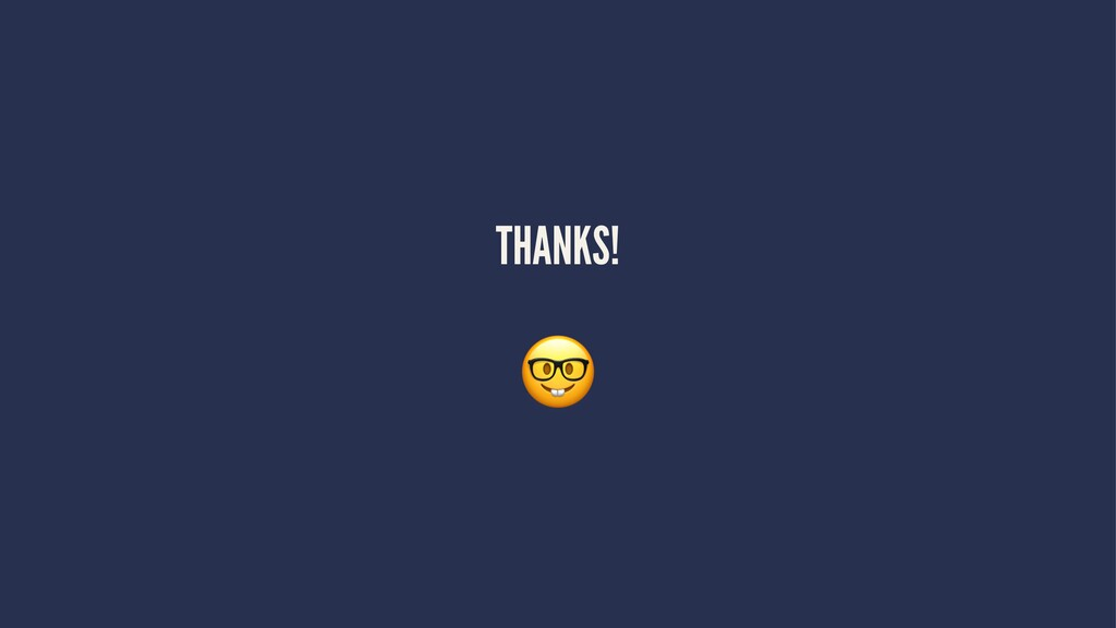 THANKS! !