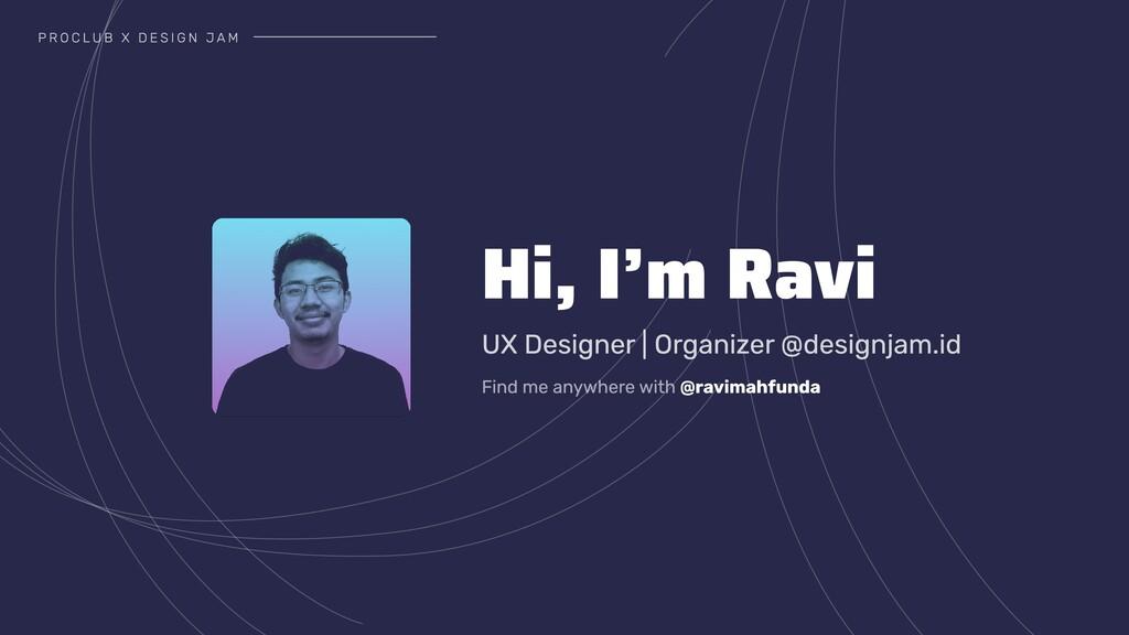 UX Designer   Organizer @designjam.id @ravimahf...