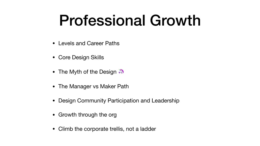 Professional Growth • Levels and Career Paths  ...
