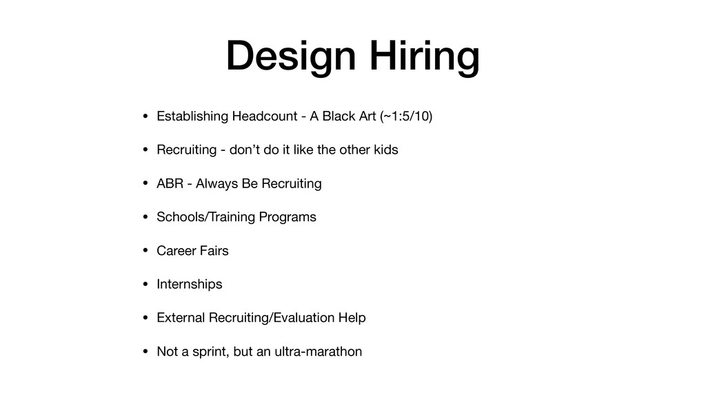 Design Hiring • Establishing Headcount - A Blac...